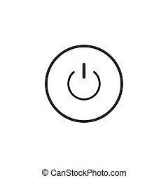 Power button icon isolated. Start sign. Flat design. Vector Illustration