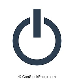 power button icon on white background.