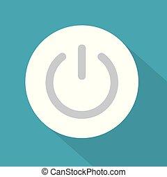 power button icon- vector illustration