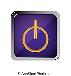power button icon with background purple