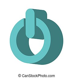 power button isometric icon