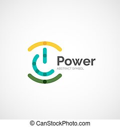 Power button logo design