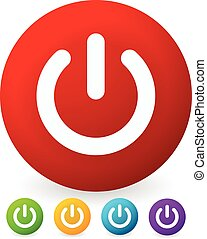 Power button, Power symbol vector graphics (eps10)