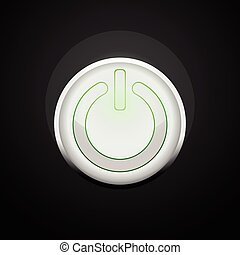 power button round frame shape on black background