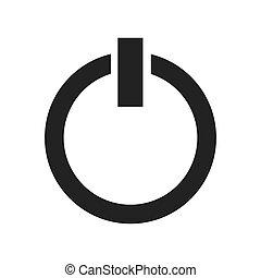 power button start icon vector illustration design