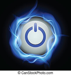 Power button, vector design.