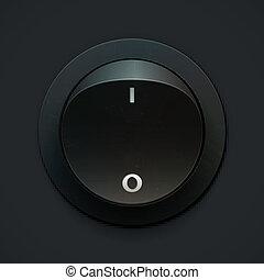Power Button. Vector illustration