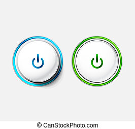 Power button - Vector illustration of start | power button