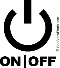 Power button with on and off sign