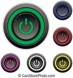 Power buttons set