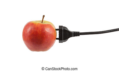 Power cable on apple