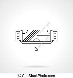 Power cereal bar flat line vector icon