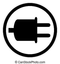 Power cord sign button.