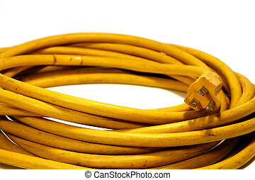 Power Cord - Yellow Power Cord Extension
