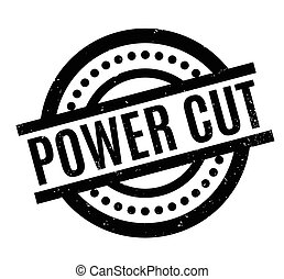 Power Cut rubber stamp. Grunge design with dust scratches....