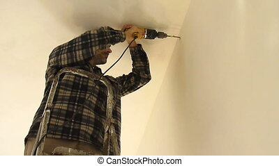 Power Drill - Man with a power drill
