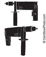 Power Drill Vector