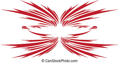 power - Eagle symbol isolated on white for design - also as...