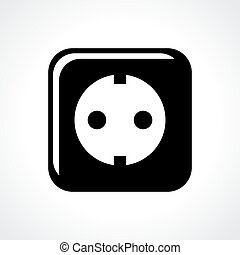 Power electric socket icon