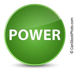Power elegant soft green round button