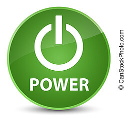 Power elegant soft green round button