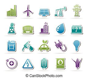 energy and electricity Source icons - Power, energy and...