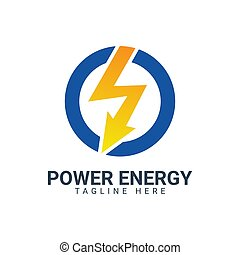 power energy logo design template