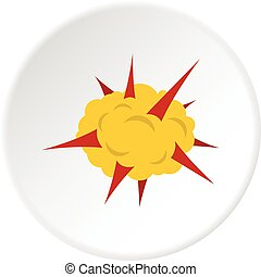 Power explosion icon circle