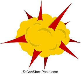 Power explosion icon isolated