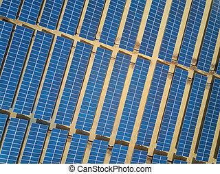 Power farm from solar panels