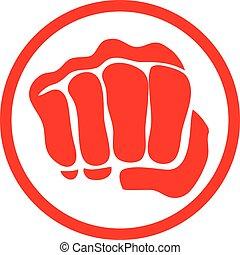power fist mma, karate, boxing logo - boxing logo taekwondo...