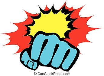 power fist mma, karate, boxing logo - power fist mma,...