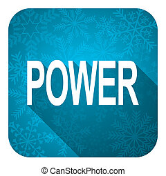 power flat icon, christmas button