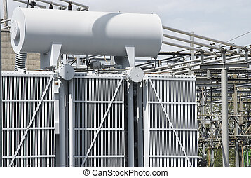 Power Generation - A view of some electrical power equipment...