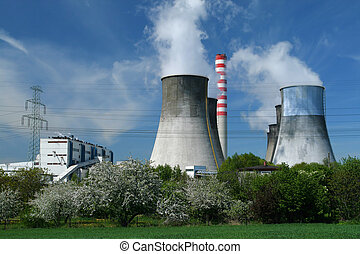 Power generation - Gigantic power plant in Poland, fruit...