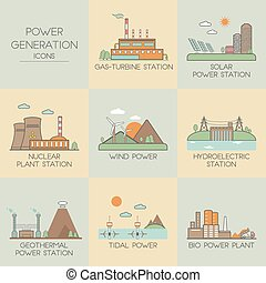 Power generation icons