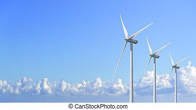 Power generation wind turbines. - Power generation wind...