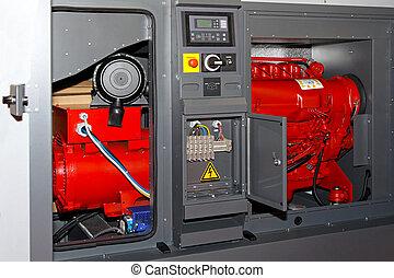 Power generator - Diesel power generator for emergency...