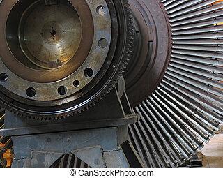 Power generator steam turbine during repair