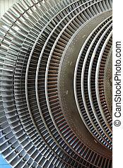 Power generator turbine close up