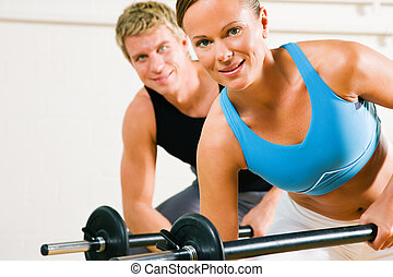 Power gymnastics with barbells - Very attractive and ...
