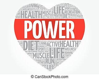 POWER heart word cloud