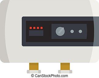 Power heater icon, flat style