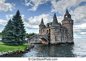 Power House of Boldt Castle, Thousand Islands, New York - ...