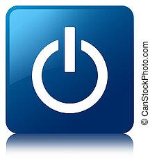 Power icon blue square button
