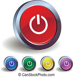Power icon buttons