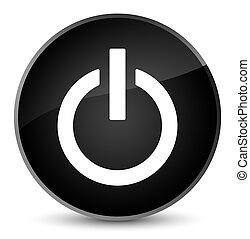 Power icon elegant black round button