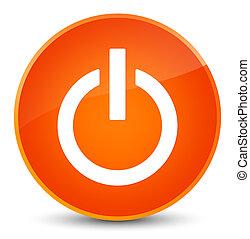 Power icon elegant orange round button