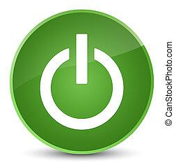 Power icon elegant soft green round button