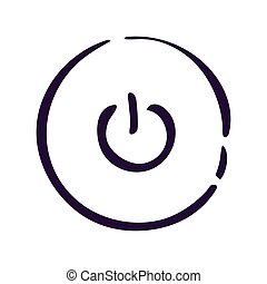 Power icon on white background Vector illustration